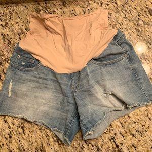 Maternity denim shorts Small